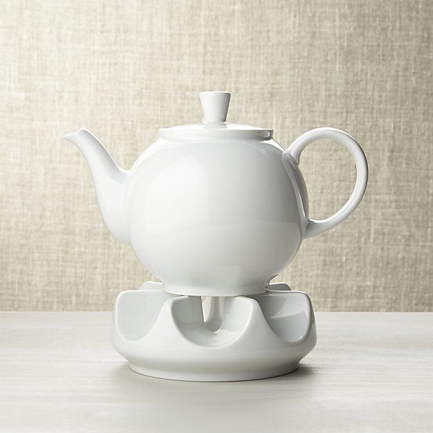 Crate & Barrel Arzberg Teapot with Warmer