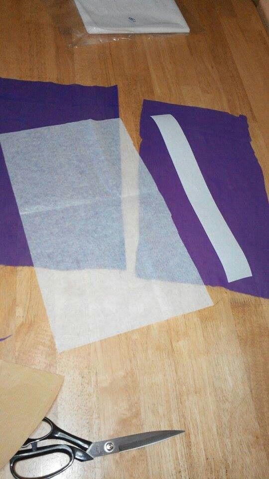 Tudung twist - kertas gam & 2 helai kain chiffon untuk awning