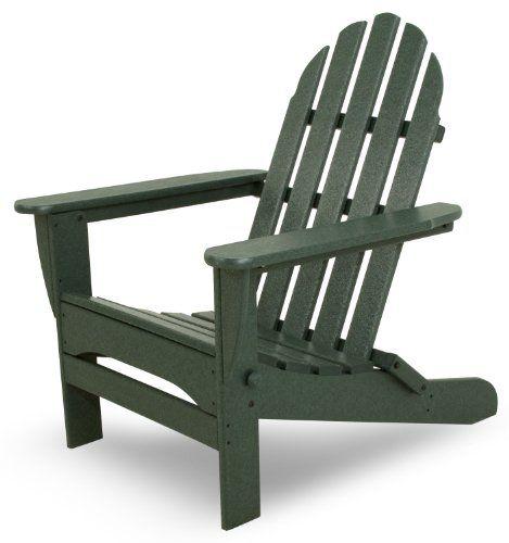 Ivy Terrace IVAD5030GR Classics Folding Adirondack Chair Green https://homepatiogarden.net/ivy-terrace-ivad5030gr-classics-folding-adirondack-chair-green/