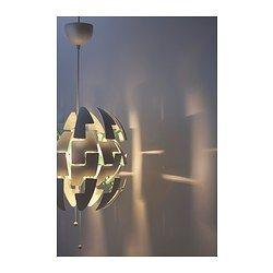 IKEA - IKEA PS 2014, Hanglamp,  , wit/turkoois, , Je wisselt eenvoudig tussen sterkere algemene verlichting en zachtere sfeerverlichting door aan de touwtjes te trekken.Geeft muren en plafond een decoratief patroon.
