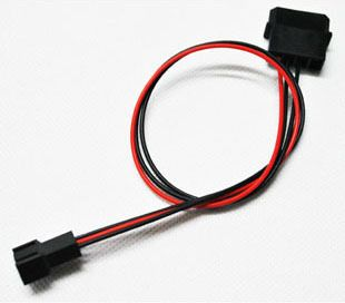 20pcs/lot PC IDE Molex to Cooling Fan Cooler 3pin Socket Power Supply Cable Cord 22AWG 30cm