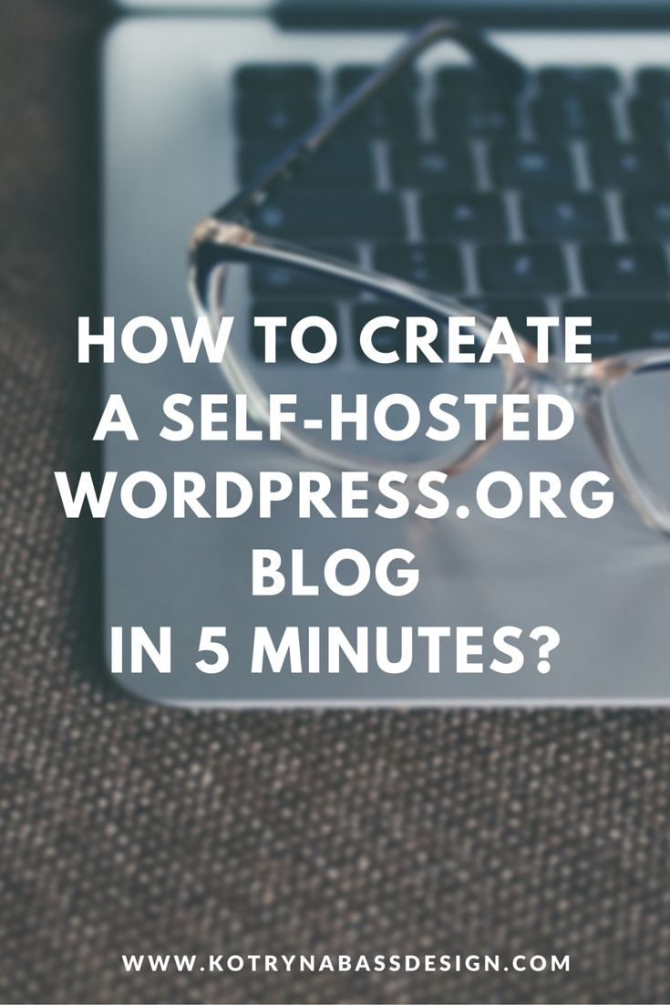 Starting a Self-Hosted blog might seem like a hustle, but in reality, it's only going to take you a few minutes to set up if you follow this tutorial.