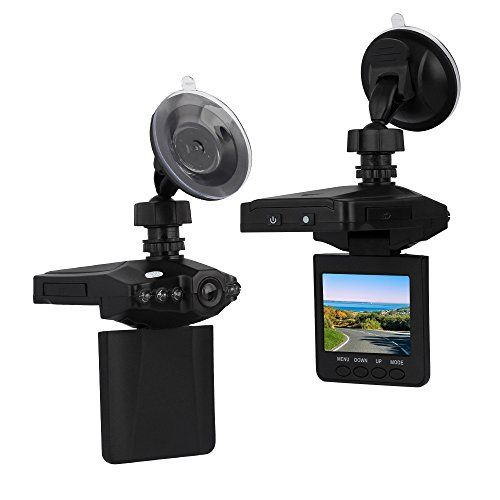 """On Dash Video Lecmal 2.5"""" Dash Cam for Cars with Night Vision / HD IR Dash Cam 270 Degrees Rotatable Camera Video Recorder / Traffic Dashboard Camcorder Loop Recording Car Camera-No Card Included"""