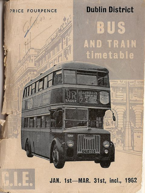 CIE Dublin area bus & train timetable, 1962 | Flickr - Photo Sharing!