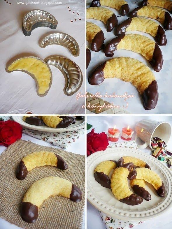 Vaníliás kiflicskék csokoládéval