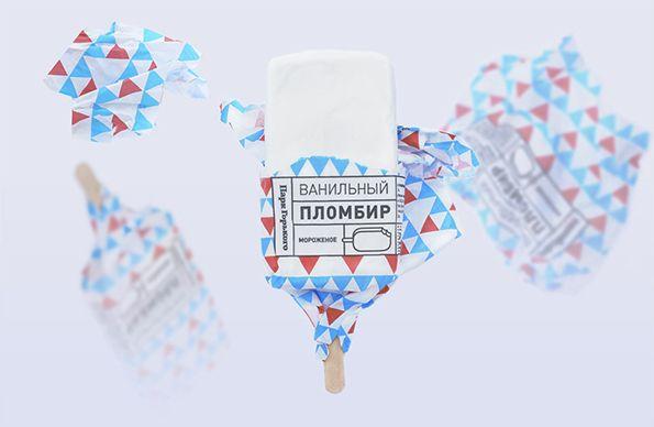 Designer Anastasia Genkina has created these beautiful branding and packaging designs for Gorky Park ice-cream