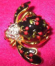 Красивая joan rivers черная эмаль Вишня пчела булавка