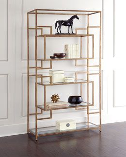 Bookshelf.  Depending on width, possibly 2 side by side   Horchow: H7GP4 Renaldi Etagere