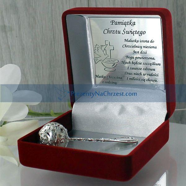 Srebrna grzechotka, wykonana  bardzo precyzyjnie sprawdzi się jako pamiątka na wiele lat dla dziecka.   http://bit.ly/1hqfbPj