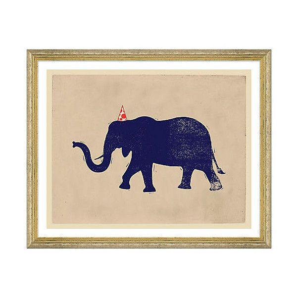 Party Animals Elephant Paintings ($149) ❤ liked on Polyvore featuring home, home decor, wall art, elephant painting, whimsical paintings, elephant home decor, elephant wall art and animal paintings