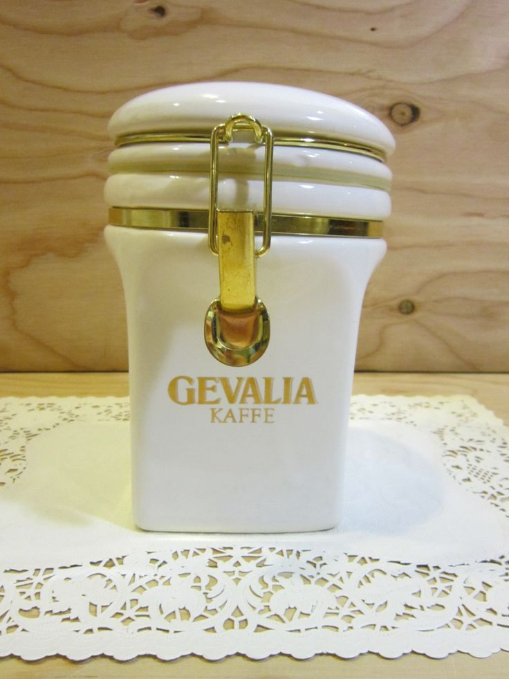 Vintage Gevalia Coffee or Tea Canister Made in Japan by RainbowConnection15 on Etsy