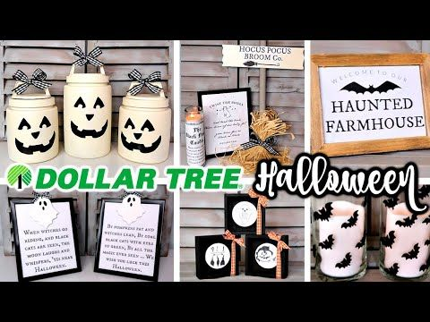 DIY DOLLAR TREE HALLOWEEN DECOR | FARMHOUSE FALL T…