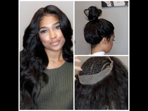 360 lace frontal install! NO GLUE, TAPE, OR GEL [Video] - Black Hair Information