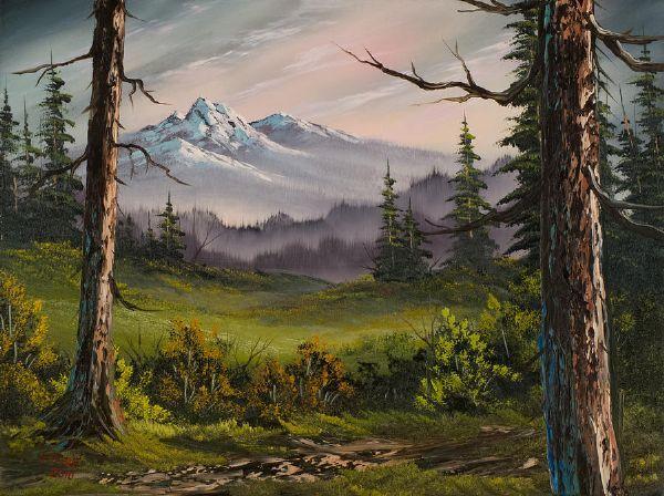 bob ross meadow view paintings | MANZARA-YAĞLIBOYA | Bob ...