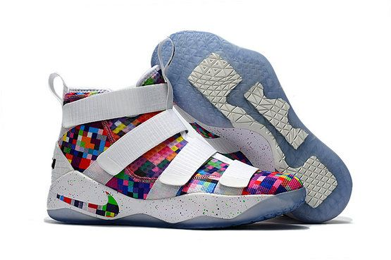 8d197e77b44 Cheap Wholesale Nike Lebron Soldier James 11 Rainbow