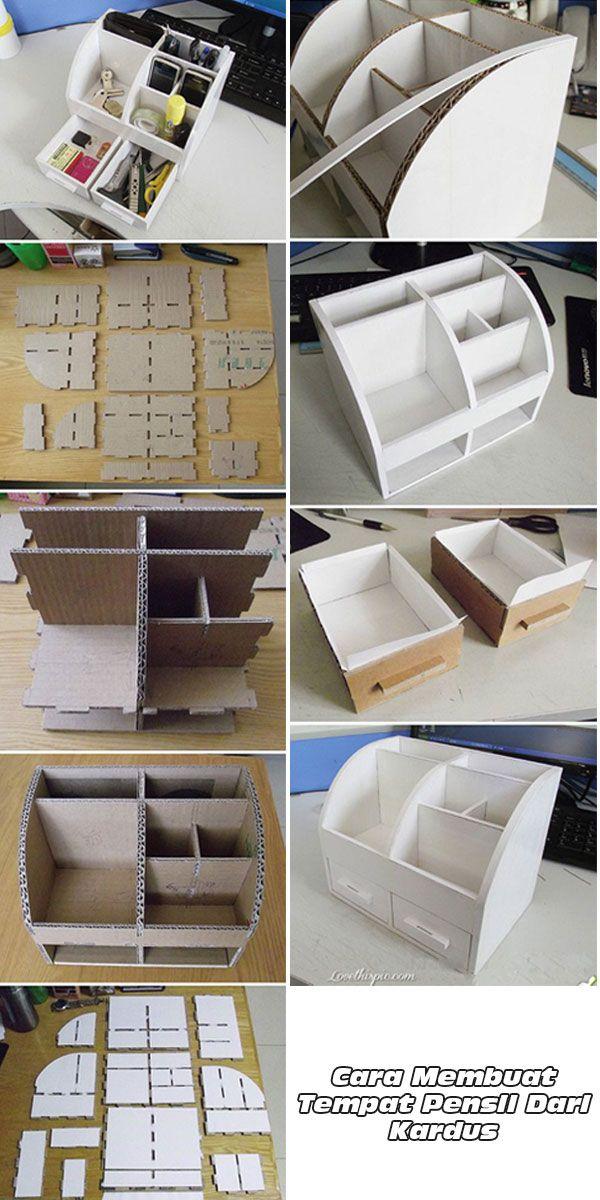 Cara Membuat Tempat Pensil Dari Kardus | Kotak pensil