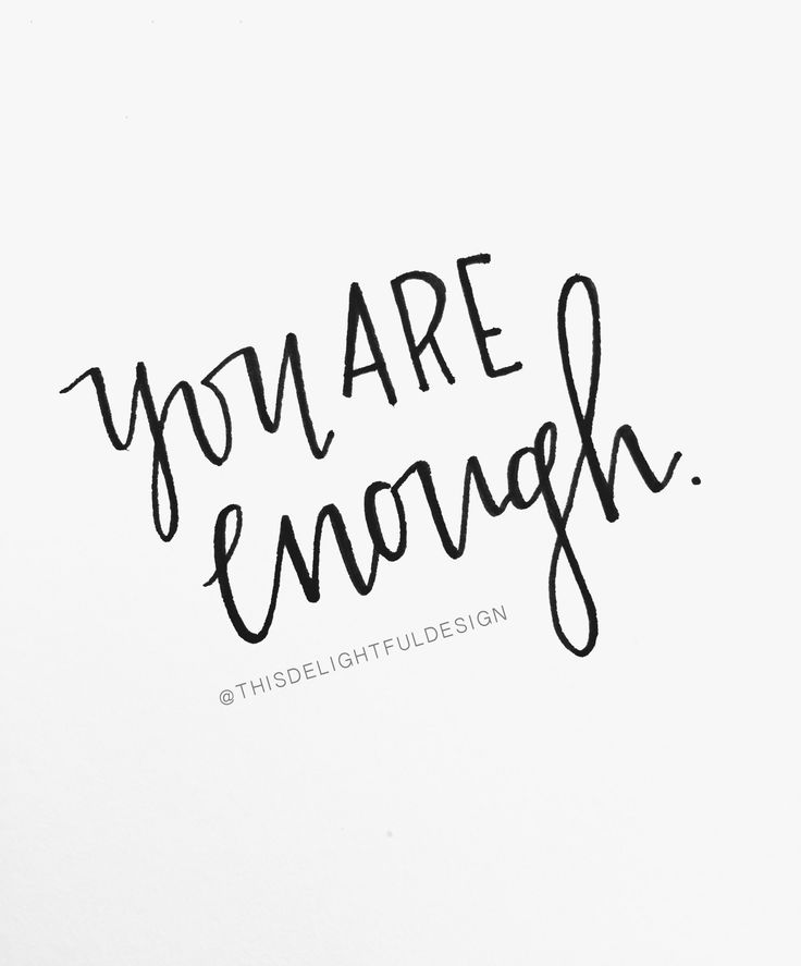 You are Enough. | Motivation | So Worth Loving | Inspiration | Bible Verse | Faith | Quote | Home Decor | Custom Hand Lettering | Modern Calligraphy || This Delightful Design by Katie Clark | katieclarkk.com
