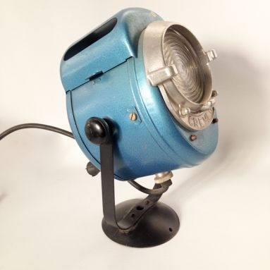 """This original theater lamp """"Projecteur Cremer Paris"""" dates back to the 50s and has been used as a spotlight in a Paris theater ."""