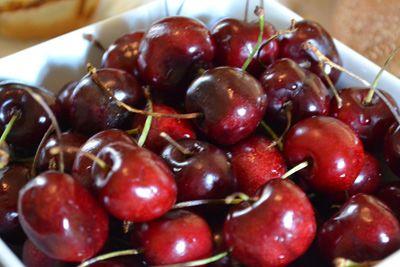 Fresh, local cherries