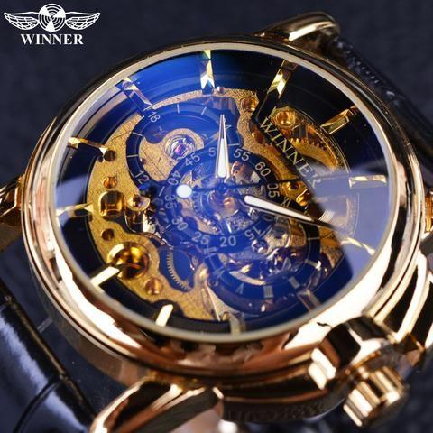 Winner 2016 Navigator Series  Luxury Skeleton Mechanical Watch