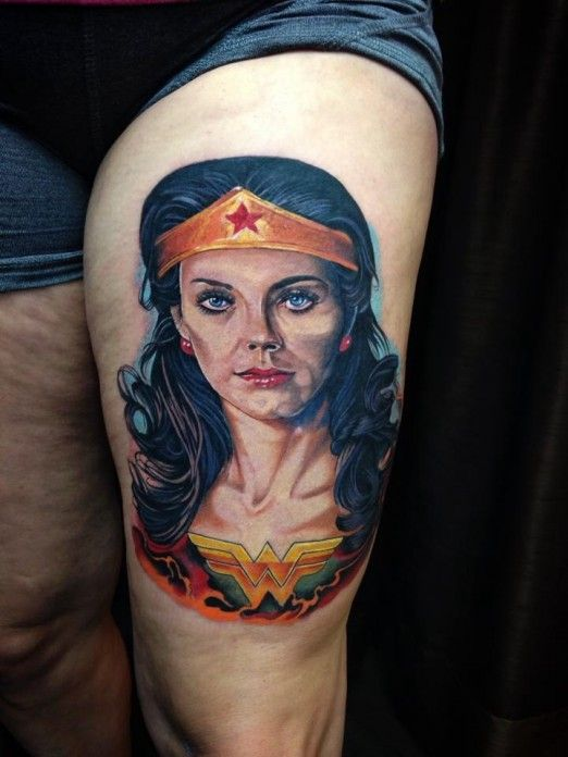 133 best images about superhero tattoos on pinterest see for Tattooed wonder woman