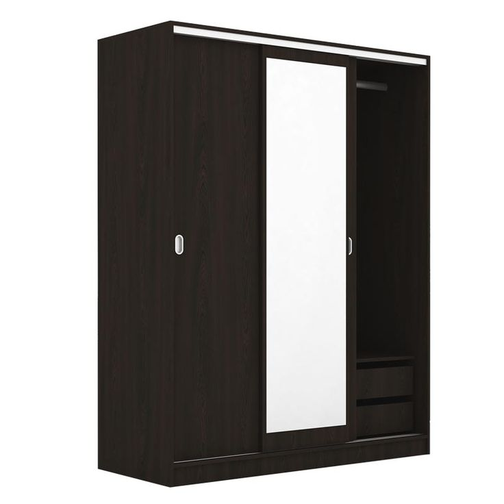 3 Door Deco 64 sliding wardrobe wenge 150x59x191
