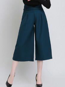 Green High Waist Wide Leg Pant