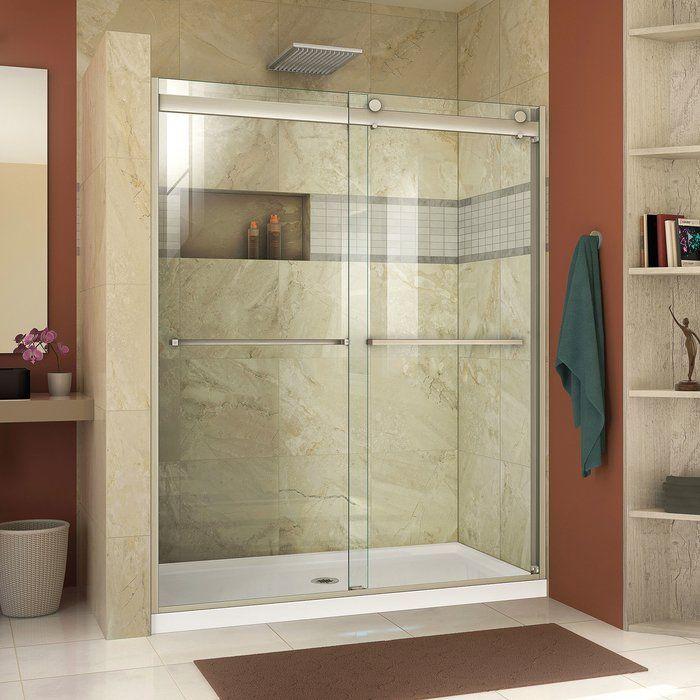 32 X 58 Hinged Frameless Shower Door Frameless Sliding Shower