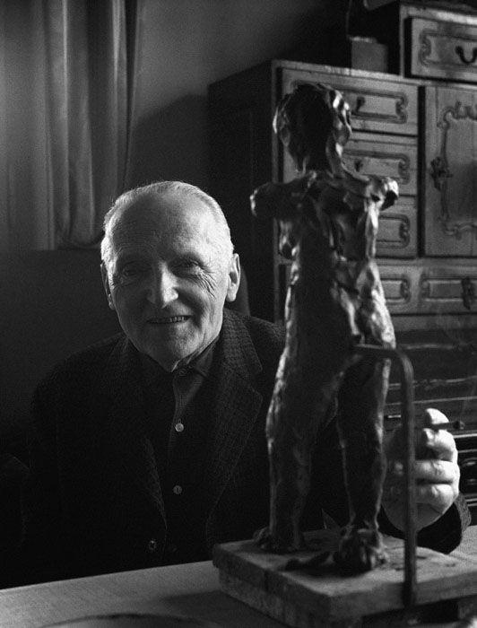 Ferenczy Béni szobrászművész, 1965 Fotó: Keleti Éva