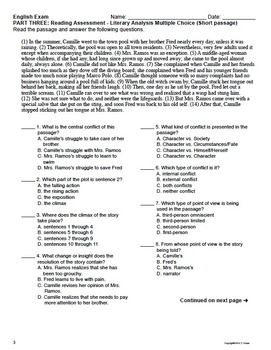 Reading Test Act-1874Fpre Answer Key + mvphip Answer Key