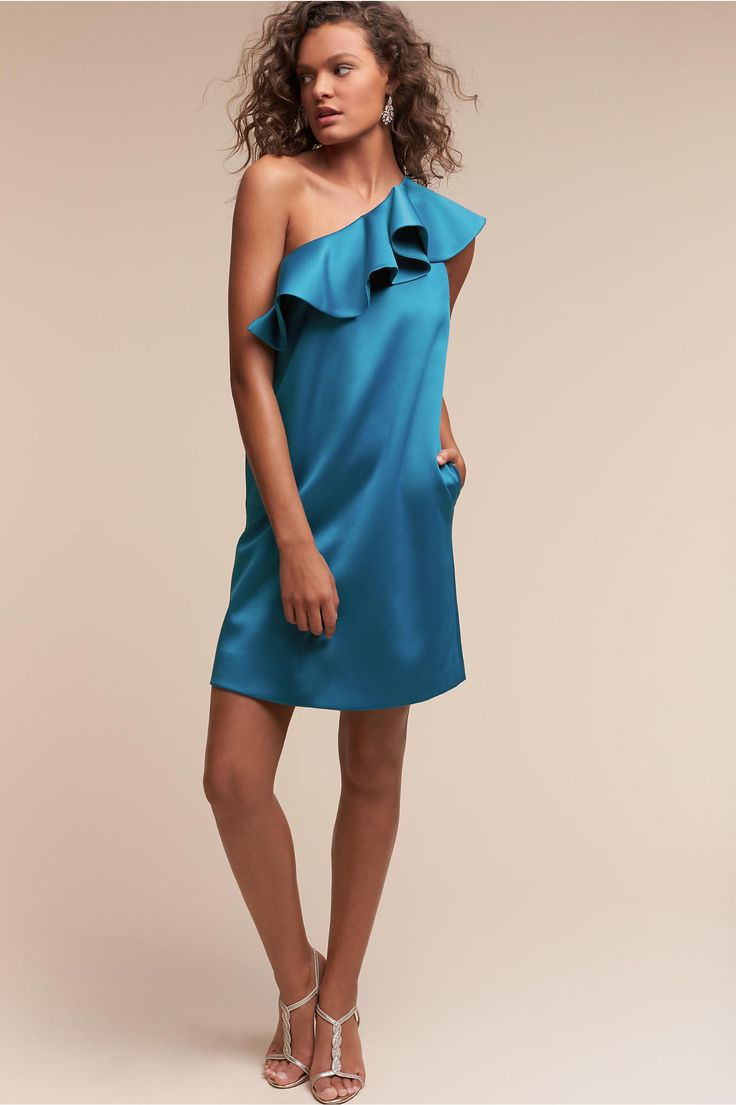 BHLDN's Hitherto Romane Dress in Coastal Blue