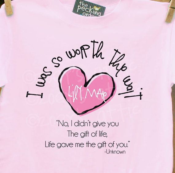 32 best adoption finalized announcements images on pinterest childrens personalized shirt i was so worth the wait heart adoption quote t shirt adorable way to announce madt1 003 1 negle Choice Image