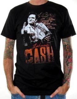 Johnny Cash, Shirt, Middle Finger