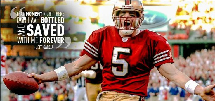 Jeff Garcia - scored 25 unanswered points in 18 minutes for a comeback 39-38 victory over the Giants in the '02-'03 playoffs. One of the most exciting games at Candlestick, its so sad to see them go, but here is to hoping Levis Stadium brings new excitement and more good memories in the years to come!
