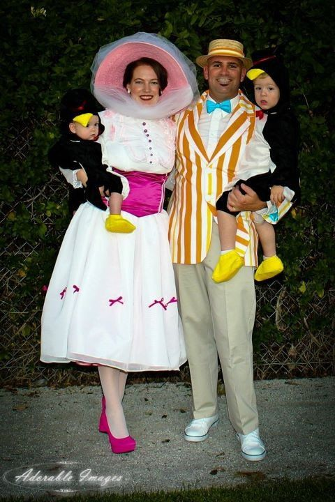Marry poppins. Good family costumes!