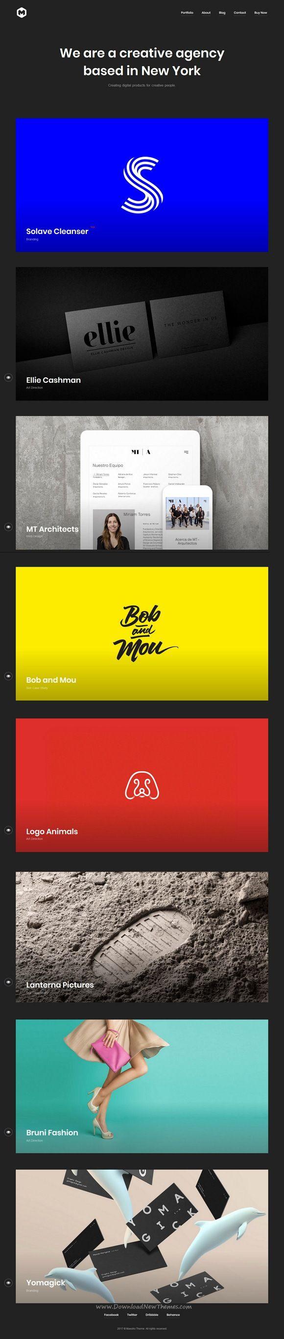 Maestro is clean and modern design responsive #WordPress theme for creative #portfolio showcase website download now..