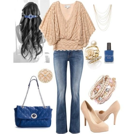everyday wear - beige and blue by Em1981