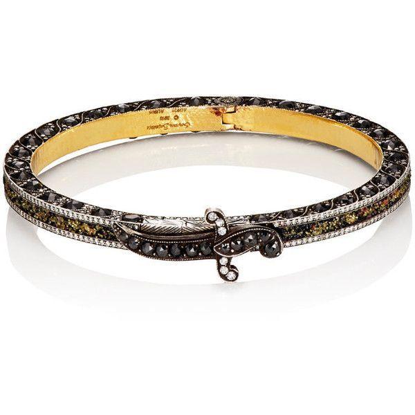 Sevan Biçakçi Women's Mixed-Gemstone Bangle ($30,000) ❤️ liked on Polyvore featuring jewelry, bracelets, black, handcrafted gemstone jewelry, gemstone jewelry, bangle bracelet, bracelets bangle and polish jewelry