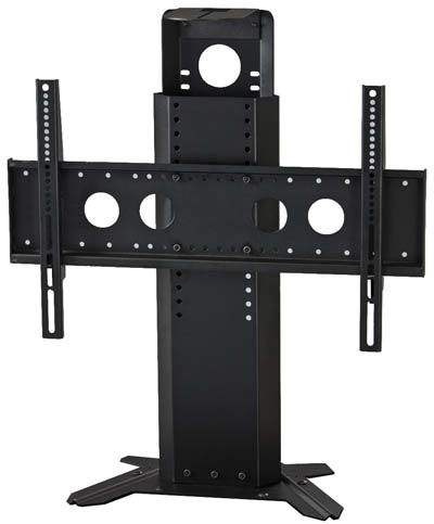 The PM-S mount for single monitors integrates with our display carts to provide a solid, secure connection creating a truly portable roll-about video system. Designed for videoconferencing installations, this unit features a camera/codec shelf.