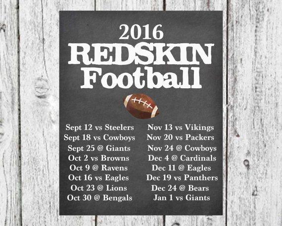 Chalkboard NFL Football Schedule, Favorite Team Football Schedule poster, Man Cave Decor, Football Season Decor, Football Poster Decor