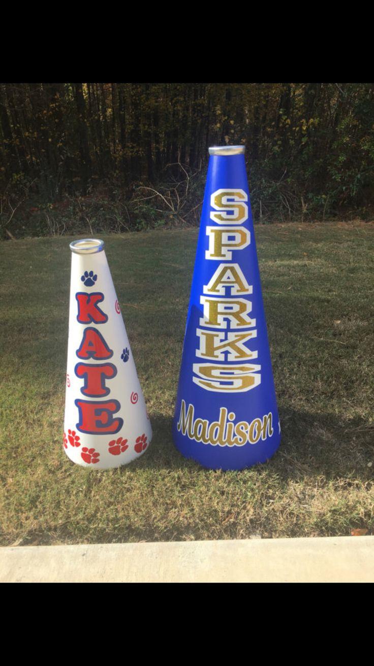 """Cheerleading megaphones. 19-25"""". https://www.etsy.com/listing/480230710/19-25-cheerleading-megaphone https://www.etsy.com"""