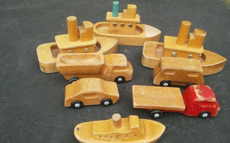 Only the car and the two trucks are Antonio Vitali designs possibly also the ship below. Creative Playthings