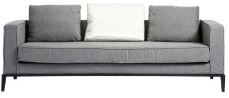 Красивый и удобный диван с деревянным каркасом и ножками из хромированной стали. Стильный и элегантный, он украсит собой как современный, так и классический интерьер. Небольшие диванные подушки придают особый комфорт. А одна из них – ослепительно белая – эффектно освежает выдержанный серый цвет изделия. Home Boutique – первая линия мебели DG HOME, которую характеризуют высокое качество, функциональность и выразительный дизайн. Большой выбор тканей и дерева, всевозможные размеры диванов…