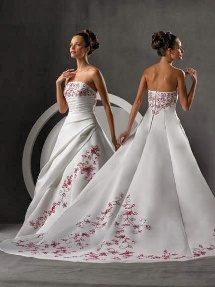 Cherry Blossom Wedding Dress | http://simpleweddingstuff.blogspot.com/2014/02/cherry-blossom-wedding-dress.html