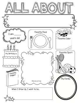 All about me poster ideas for classroom pinterest for About me template for students