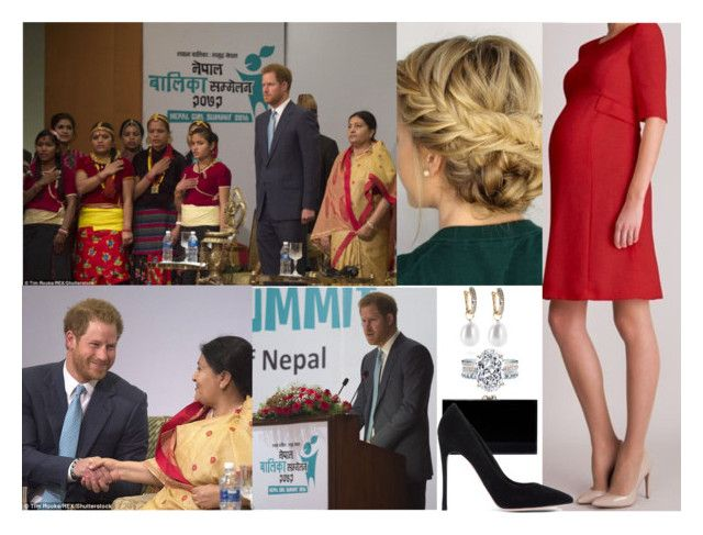"""""""Royal Tour of Nepal: Day 5 - Opening Nepal Girl Summint"""" by crownprincesselizabeth ❤ liked on Polyvore featuring MaxMara, Charlotte Olympia and Gianvito Rossi"""