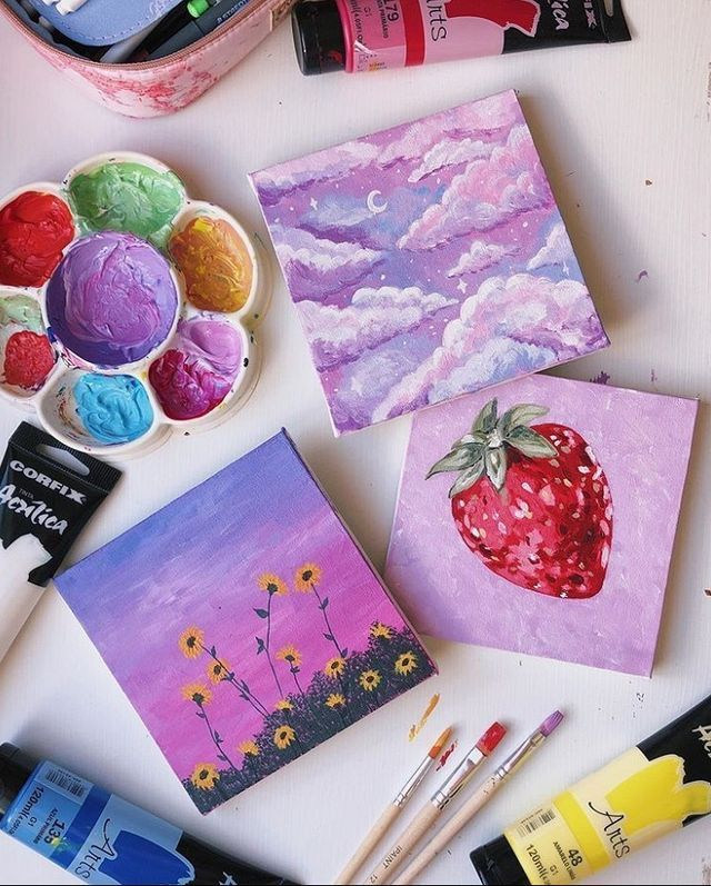 Pin By Zarina On Art Drawing In 2020 Amazing Art Painting Cute Canvas Paintings Small Canvas Art
