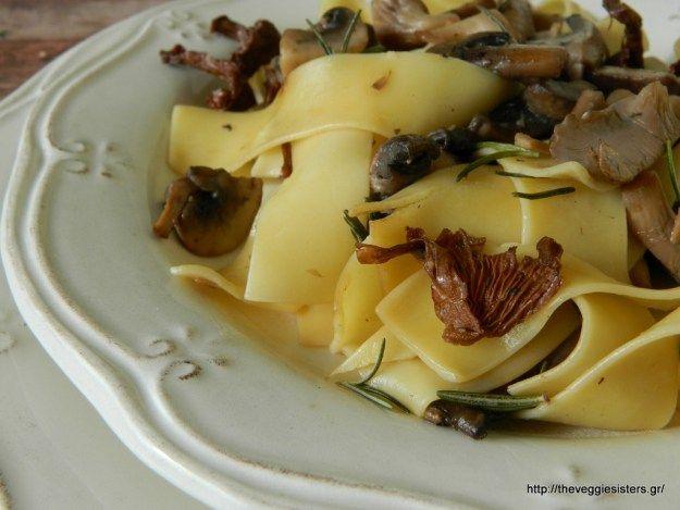 mini.press: Νόστιμη και γρήγορη συνταγή : Μανιτάρια με παπαρδέ...
