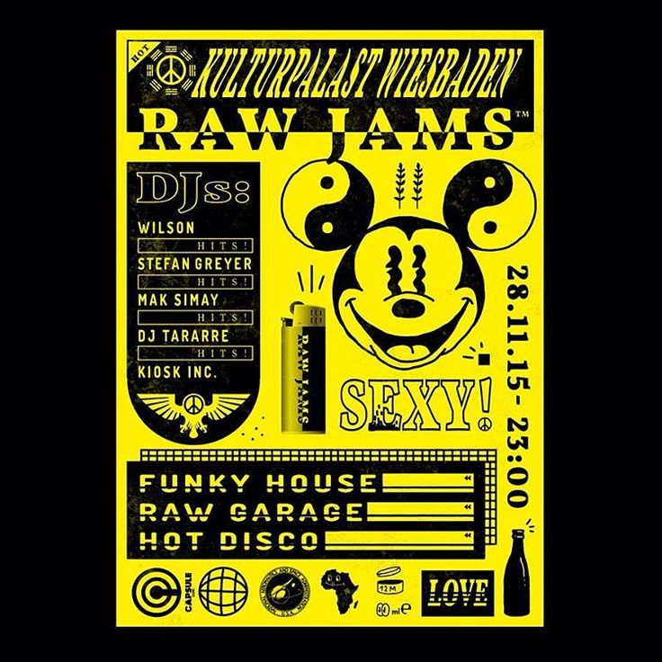 #JensRoth . . . #graphicdesign #posterdesign #posterinspiration #posterporn #posterinspire #illustration #illustrationinspired #illustrationinspire #yingyang #mickey #mickeymouse #layout #layoutdesign #layoutdesign #typeporn #typeinspire #typographyinspire #typographyinspiration #partyposter #designingermamy #germanillustrator #germangraphicdesigner