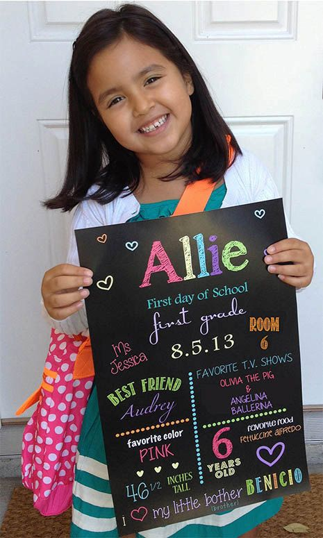 First day of school sign Back to school by MiBellaDesigns on Etsy